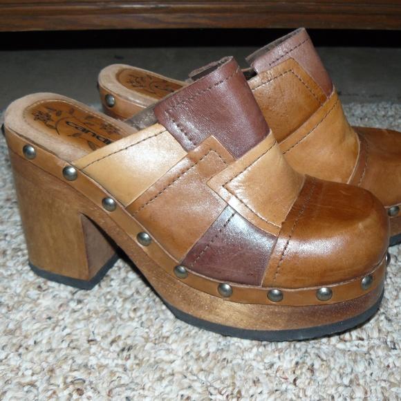 1ecdf1fea8b Candies Shoes - Candies Vintage Chunky Platform Clogs Size 7